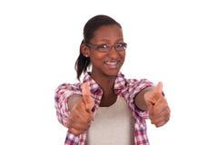Porträt des afrikanischen Schwarzen der schönen Frau Lizenzfreie Stockbilder