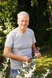 Porträt des alten Mannes im Ruhestand Lizenzfreie Stockbilder