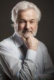 Porträt des alten Mannes mit Bart Stockfotografie