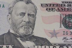 Porträt des amerikanischen Präsidenten Grant Stockfotos