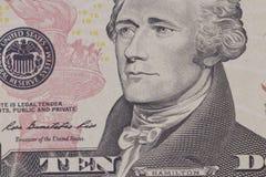Porträt des amerikanischen Präsidenten Hamilton Stockbilder