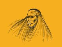 Porträt des amerikanischen Ureinwohners stockbilder