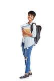 Porträt des asiatischen Hochschulstudenten lizenzfreie stockfotos