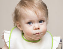 Porträt des Babys von einjährigem Stockfotos