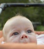Porträt des Babys von 4 Monate alten. Stockfotografie
