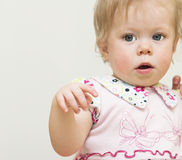 Porträt des Babys von 11 Monate alten. Lizenzfreie Stockbilder