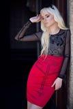 Porträt des blonden Modells draußen Lizenzfreie Stockfotografie