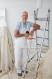 Porträt des Dekorateur-Malerei-Raumes stockfotos