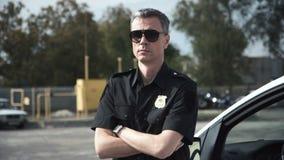 Porträt des Detektivs stock video footage