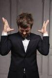Porträt des emotionalen Impresarios Stockfoto