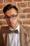 Porträt des erschrockenen jungen Mannes Lizenzfreie Stockbilder