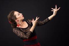 Porträt des Flamencotänzers Stockbilder