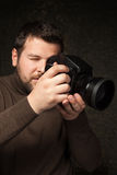 Porträt des Fotografen Stockbild