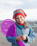 Porträt des glücklichen netten Kindes Stockfotografie