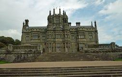 Porträt des gotischen Schlosses Stockfotos