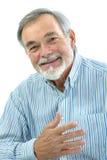 Porträt des hübschen älteren Mannes stockfoto