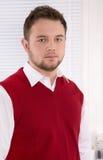 Porträt des hübschen Beraters im Büro. lizenzfreie stockfotos