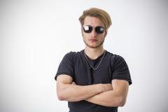Porträt des hübschen blonden jungen Mannes Stockfoto