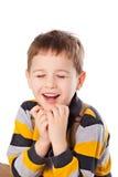 Porträt des hübschen Jungen Stockbilder