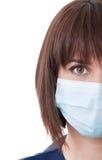 Porträt des halben Gesichtes einer Ärztin Stockbilder