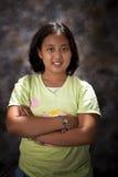 Porträt des molligen Mädchens Stockfotos