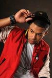 Porträt des Hip Hop-Afroamerikaner-Mannes stockbilder