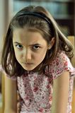 Furcht Minute des kleinen Mädchens Lizenzfreie Stockbilder