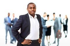 Porträt des intelligenten Afroamerikanergeschäfts Stockbild