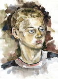 Porträt des Jugendlichen stockbild