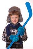 Porträt des Jungen in der warmen Kleidung Lizenzfreie Stockbilder