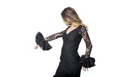 Porträt des jungen Flamencotänzers im schönen Kleid Stockbild