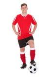 Porträt des jungen Fußball-Spielers Lizenzfreie Stockfotos