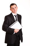 Porträt des jungen Geschäftsmannes Stockbild