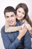 Porträt des jungen glücklichen Paars Lizenzfreie Stockfotografie