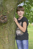 Porträt des jungen Mädchens Stockfotografie
