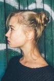 Porträt des jungen Mädchens stockfoto