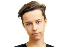 Porträt des jungen Mannes, lokalisiert auf Weiß Lizenzfreies Stockbild