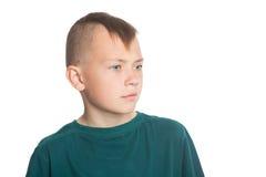 Porträt des Jungen mit stilvoller Frisur Lizenzfreies Stockfoto