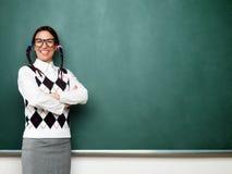 Porträt des jungen weiblichen Sonderlings Stockfotografie