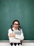 Porträt des jungen weiblichen Sonderlings Lizenzfreies Stockfoto