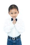 Porträt des kleinen asiatischen Jungen stockfotos