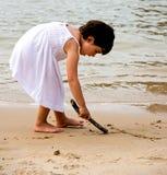 Porträt des kleinen Mädchens Stockfoto