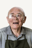 Porträt des lächelnden älteren Mannes Stockfotografie