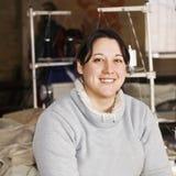 Porträt des lächelnden Abwasserkanals stockfotografie