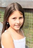 Porträt des lächelnden Mädchens Lizenzfreies Stockfoto