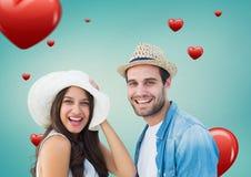 Porträt des Lächelns des glücklichen Paars Lizenzfreies Stockbild