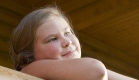 Porträt des Mädchens von 10 Jahren. Lizenzfreies Stockfoto