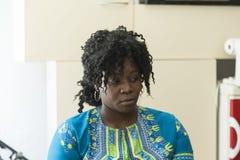 Porträt des Mädchens von West-Afrika stockfoto