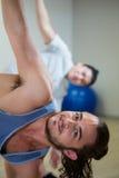 Porträt des Mannes Aerobic-Übung tuend Lizenzfreies Stockbild