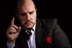 Porträt des Mannes, Pate ähnlicher Charakter Stockfotos